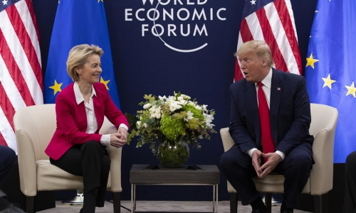 DT and UvL in Davos 2020 FX24