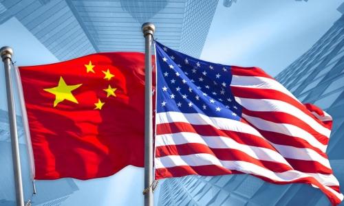 Flag China + USA